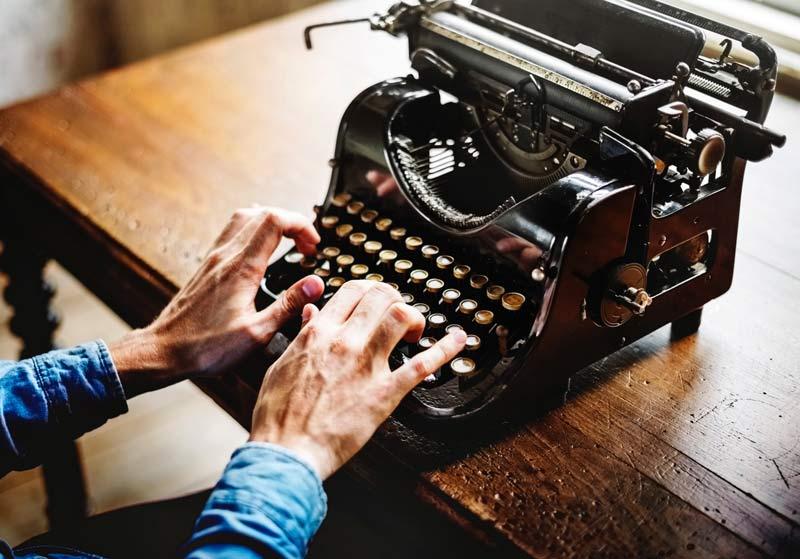 le macchine da scrivere stanno tornando